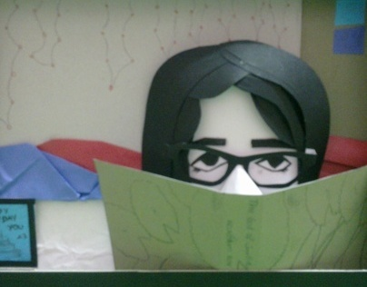 Girl Reading  God of Small Things : Paper Craft