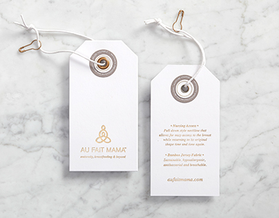 Au Fait Mama Branding, Stationary and Label Program