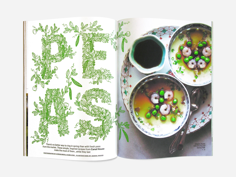 Peas Lettering