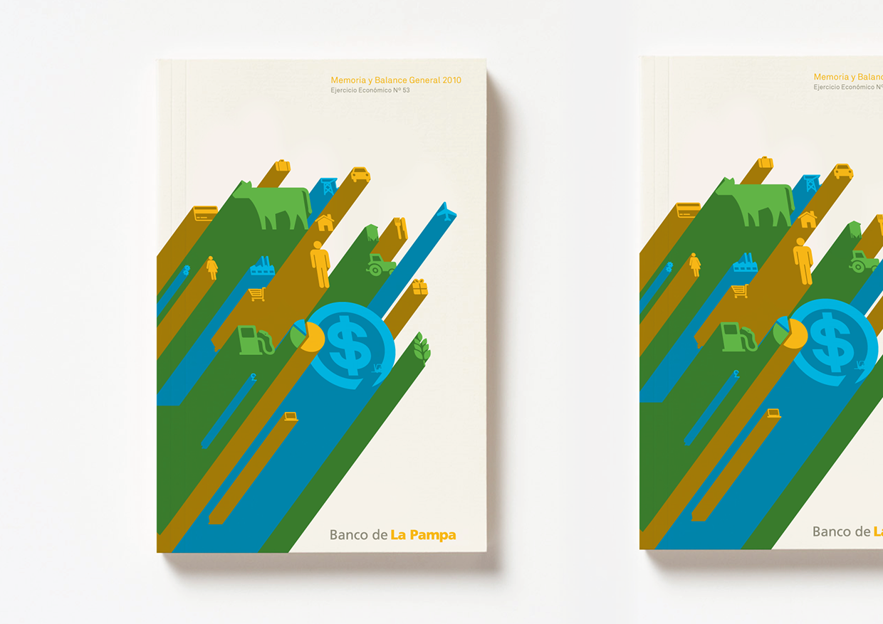 Banco de La Pampa Annual Report  - Cover design