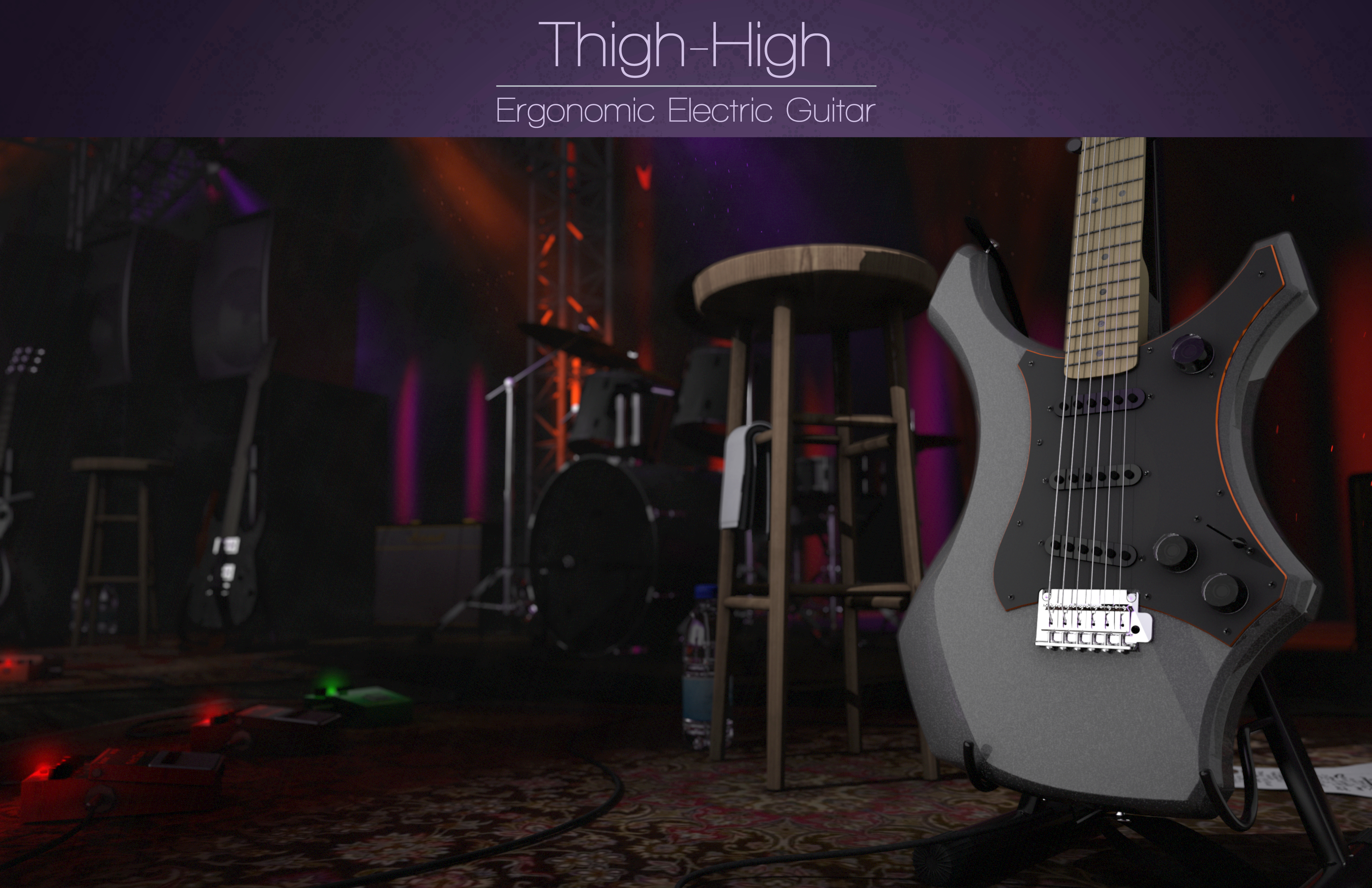 Thigh-High Electric Guitar