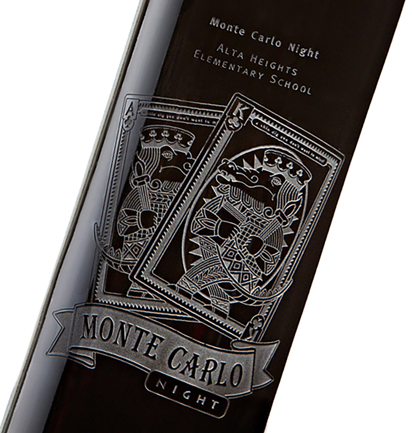 Etched Wine Bottle Package