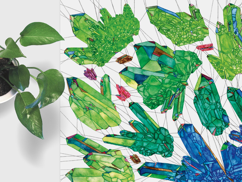 Geometric Crystal Illustration