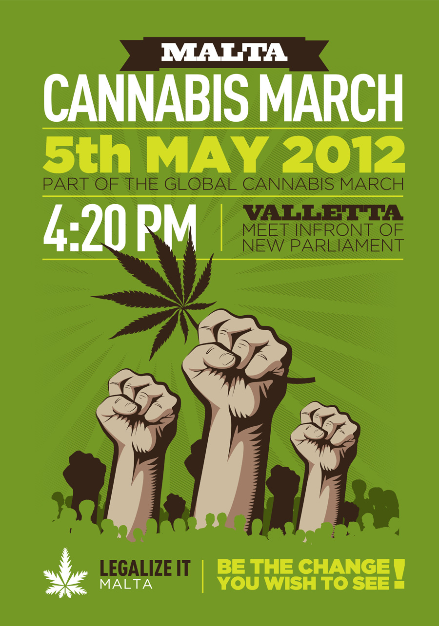 Malta Cannabis March 2012
