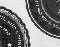 Retro Badges - Faded Vintage Labels