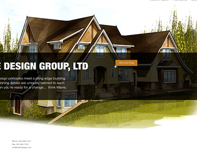 Portfolio Site for Custom Home Designer