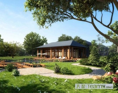 3D Rendering  for villa/ landscape