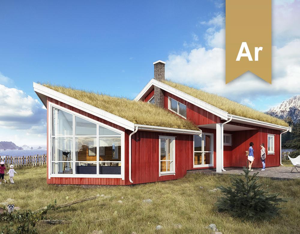 Norwegian seaside cabin