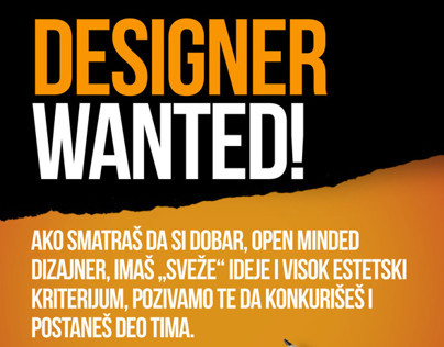 ORANGE designer wanted
