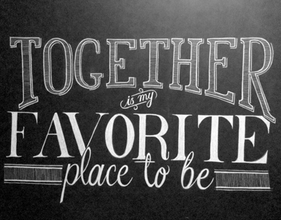 Together Chalkboard type