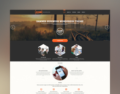 SAMNES Business WordPress Theme