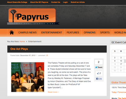 Papyrus website design