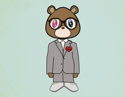 Kanye West 808s and Heartbreak Bear Print