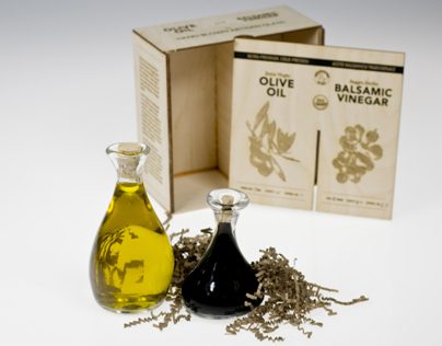 Olive Oil/Balsamic Vinegar Set Packaging Design