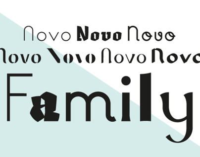 Novo Family - typefaces designed by Novo Typo