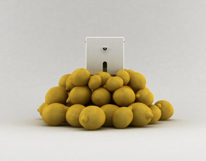 lemon cube squeezer