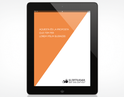 Subtrama iPad project cover