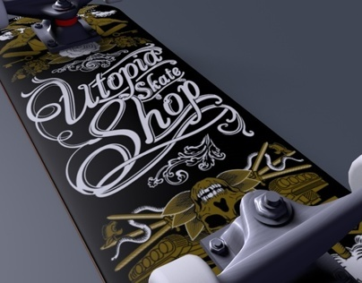 Utopia Skate Shop Skateboard Graphic