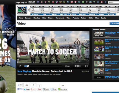 March To Soccer video for Major League Soccer