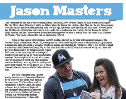Sponsorship Letter for Jason Masters