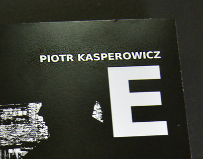 The graphic design of the book Piotr Kasperowicz.