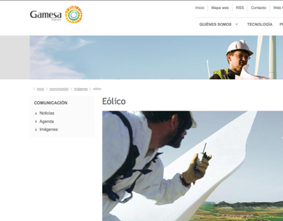 Gamesa Electric web design