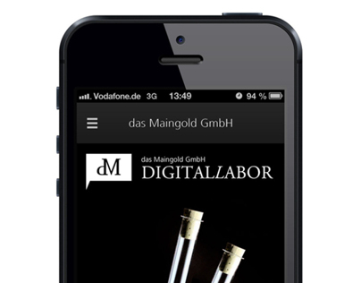 Das Maingold Mobile Website Concept