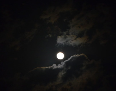 Moon in night