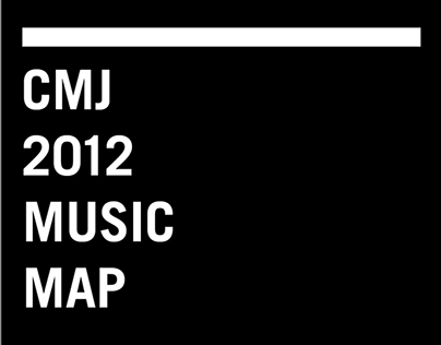 CMJ 2012 Music Map