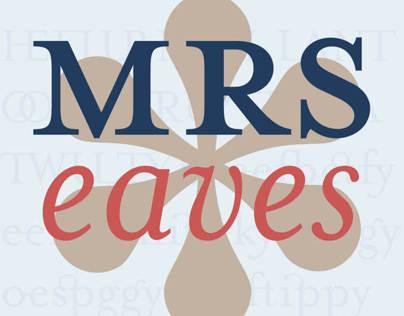 Mrs. Eaves Type Specimen Book