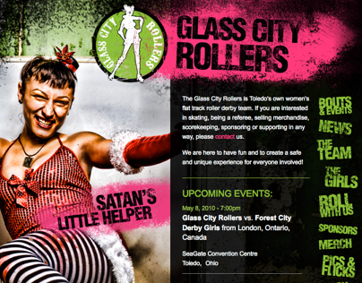 Glass City Rollers Website