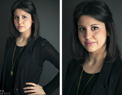 Portraits of a young actress