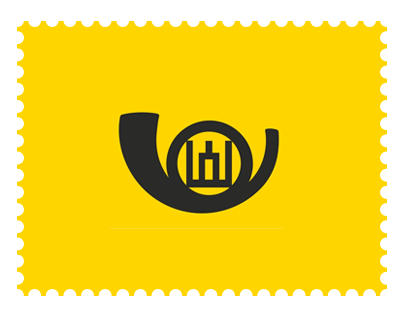 Lithuanian post stamps concept