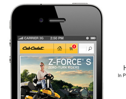 Cub Cadet Mobile Site Design