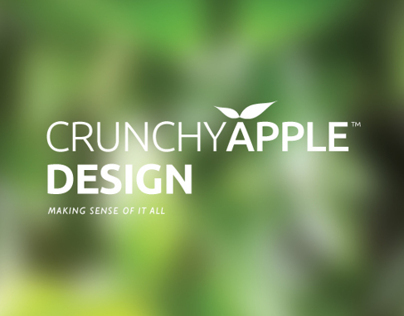 "CRUNCHYAPPLE™ DESIGN ""NEW"" BRAND IDENTITY"