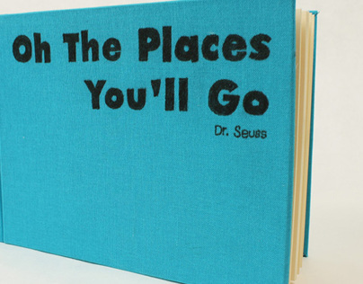 Oh The Places Youll Go hand bound book
