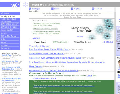 IBMs TechSpot Website