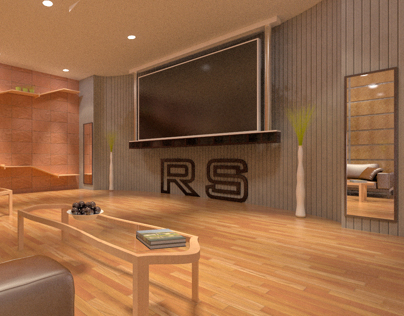 Modern Room with curve