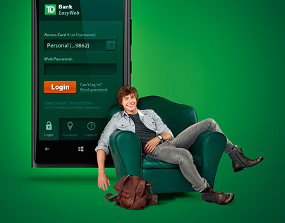 TD Bank Easy Web App UX/UI Design