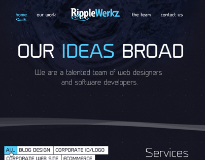Proposed Web Site Design for RippleWerkz