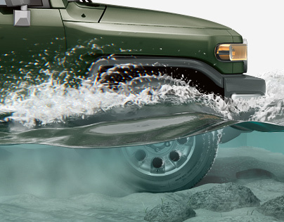 FJ Cruiser - Off-Road 3D infographics