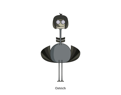 Ostrich. Illustration
