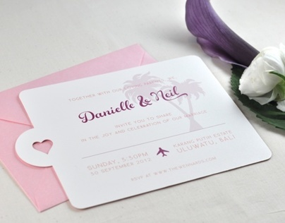 Neil & Danielle Wedding Invitations