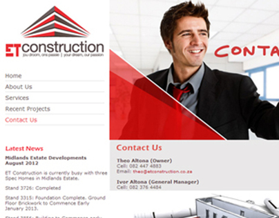 ET Construction Website Design