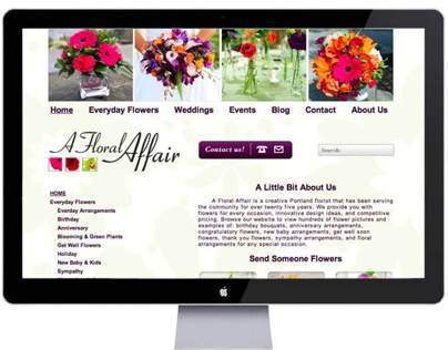 A Floral Affair Web Design