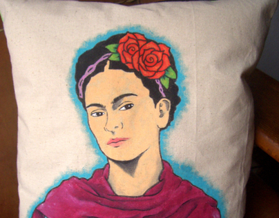 Crafts: hand painted custom cushion