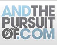 And The Pursuit Of... - Brand ID, web & print design