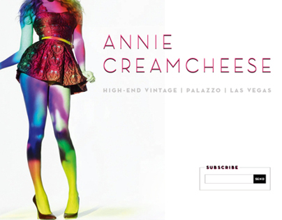 Annie Cream Cheese, WebDev + Art Direction