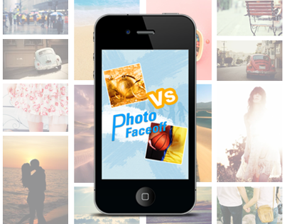 Photo Faceoff App Design