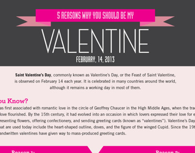 5 Reasons Why You Should Be My Valentine